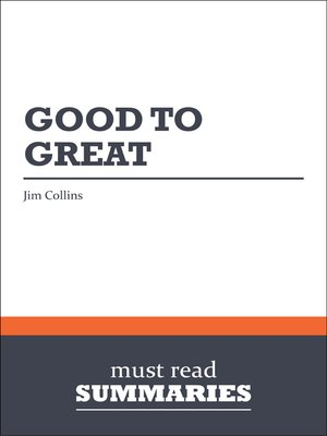 cover image of Good to Great - Jim Collins