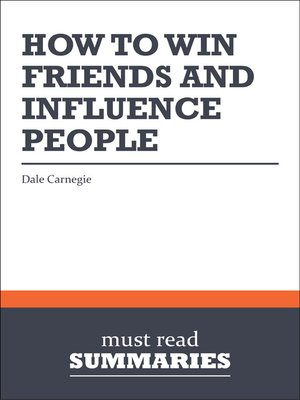 cover image of How to Win Friends and Influence People - Dale Carnegie