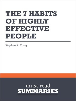 cover image of The 7 Habits of Highly Effective People - Stephen R. Covey