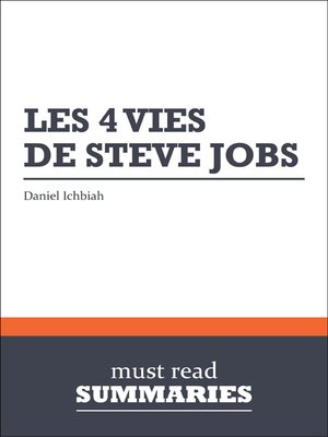 cover image of Les 4 vies de Steve Jobs