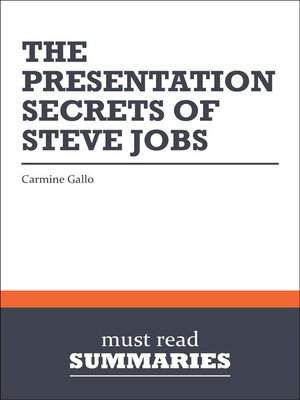 cover image of The Presentation Secrets of Steve Jobs - Carmine Gallo