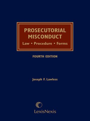 cover image of Prosecutorial Misconduct