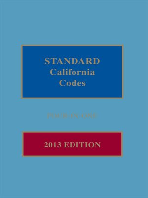 cover image of Standard California Codes: Four-in-One