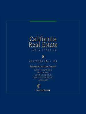 cover image of California Real Estate Law and Practice