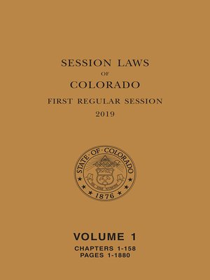 cover image of Colorado Session Laws