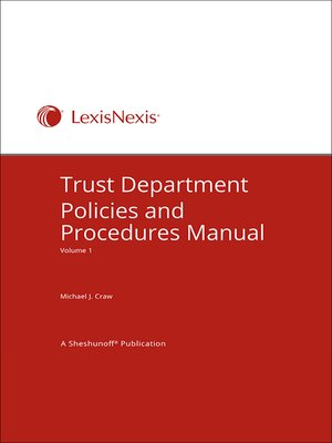 cover image of Trust Department Policies and Procedures