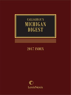 cover image of Michigan Digest
