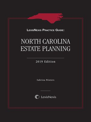 cover image of LexisNexis Practice Guide: North Carolina Estate Planning