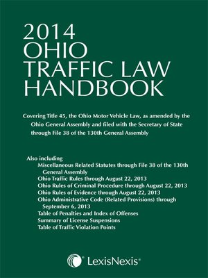 cover image of Ohio Traffic Law Handbook