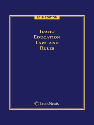 cover image of Idaho Education Laws and Rules