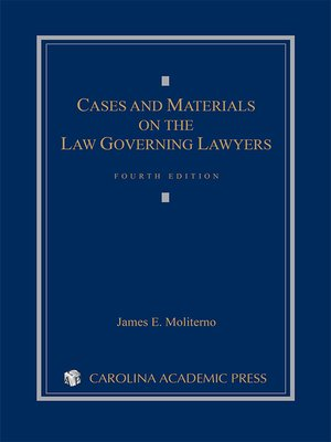 cover image of Cases and Materials on the Law Governing Lawyers