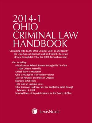 cover image of Ohio Criminal Law Handbook