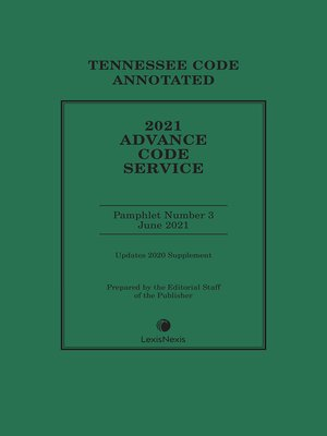 cover image of Tennessee Advance Code Service