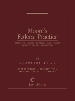 cover image of Moore's Federal Practice