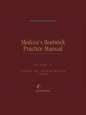 cover image of Medina's Bostwick Practice Manual