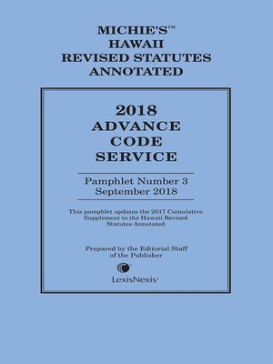 cover image of Hawaii Advance Code Service