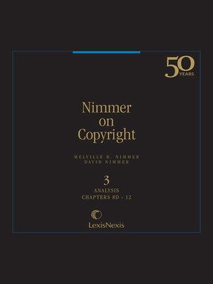 cover image of Nimmer on Copyright