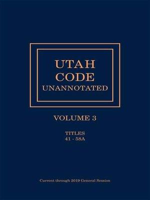cover image of Utah Code Unannotated