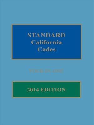 cover image of Matthew Bender Standard California Codes