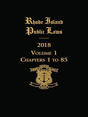 cover image of Rhode Island Public Laws