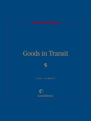 cover image of Goods in Transit