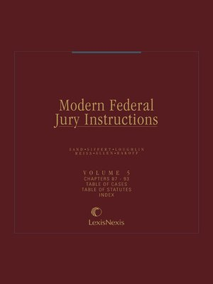 cover image of Modern Federal Jury Instructions