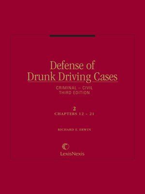 cover image of Defense of Drunk Driving Cases
