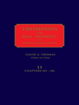 cover image of Thompson on Real Property