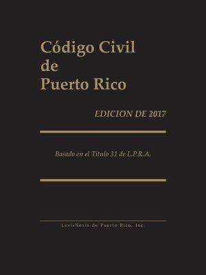 cover image of Codigo Civil de Puerto Rico