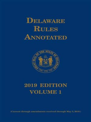cover image of Delaware Court Rules Annotated