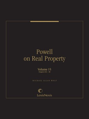 cover image of Powell on Real Property