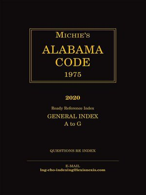 cover image of Michie's Alabama Code