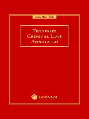 cover image of Tennessee Criminal Laws Annotated