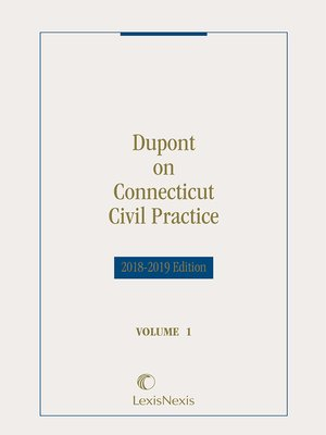 cover image of Dupont on Connecticut Civil Practice