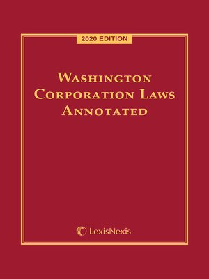 cover image of Washington Corporation Laws Annotated
