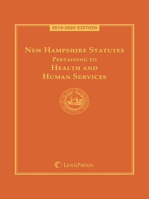 cover image of New Hampshire Statutes Pertaining to Health and Human Services
