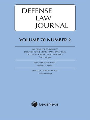 cover image of Defense Law Journal