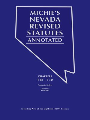 cover image of Michie's Nevada Revised Statutes Annotated