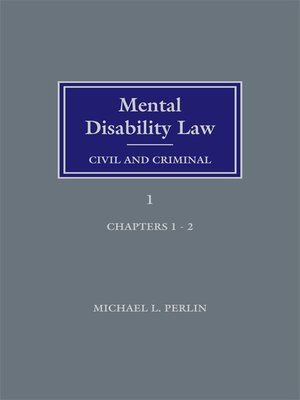 cover image of Mental Disability Law: Civil and Criminal
