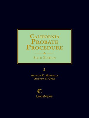 cover image of California Probate Procedure