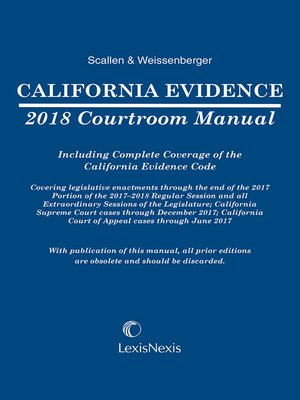 cover image of California Evidence Courtroom Manual