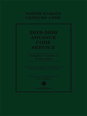 cover image of North Dakota Century Code Annotated Advance Code Service