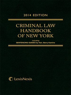 cover image of Criminal Law Handbook of the State of New York