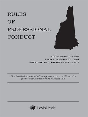 cover image of New Hampshire Rules of Professional Conduct (NHBA)