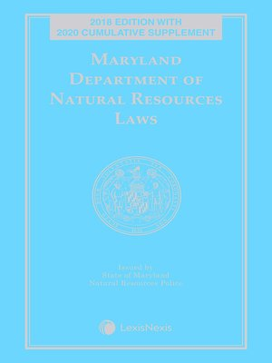 cover image of Maryland Department of Natural Resources Laws