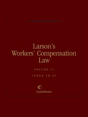 cover image of Larson's Workers' Compensation Law