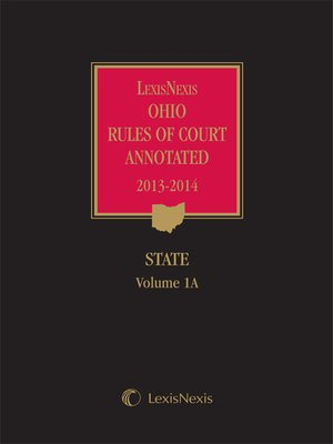 cover image of LexisNexis Ohio Rules of Court Annotated