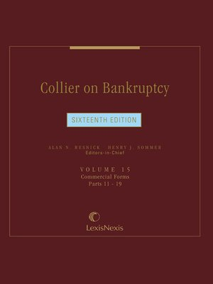cover image of Collier on Bankruptcy
