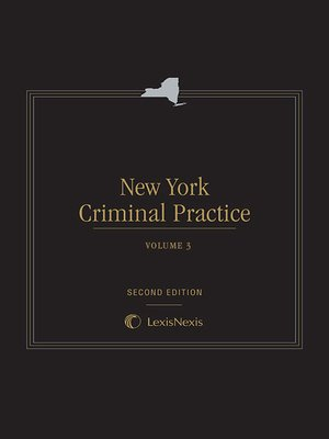 cover image of New York Criminal Practice