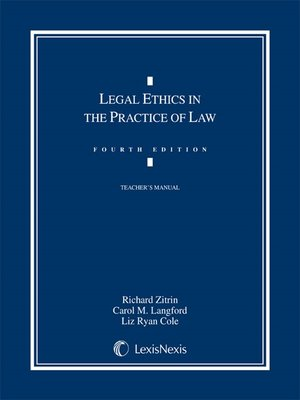 cover image of Legal Ethics in the Practice of Law